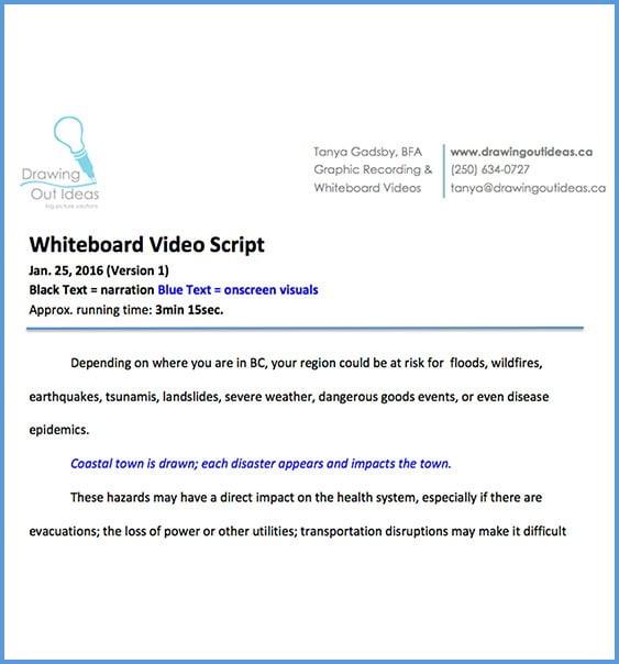 whiteboard animation victoria bc, whiteboard script, animation script
