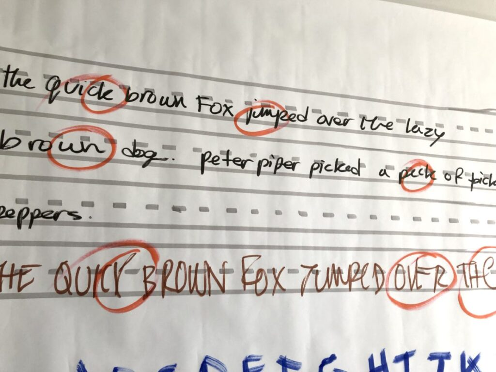 graphic recording handwriting, how to improve handwriting speed, legible handwriting, writing like a graphic recorder